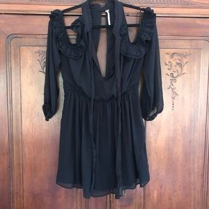 Free people ruffle cold shoulder tunic